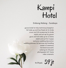 Intimate Wedding Package For Akad/Resepsi by darihati.organizer