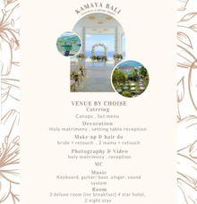 Kamaya Wedding Package by Sisi Wedding Consultant