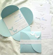 Godesign wedding invitations in jakarta bridestory cloud blue wedding invitation by godesign stopboris Images