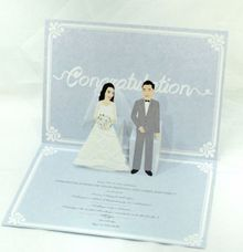 Bride and Groom pop up card by Paperica