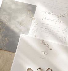 Suade letterpress invitation by Pensée invitation & stationery