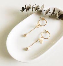 Elysee Custom Made 925 Sterling Silver Star Drop Earrings by AEROCULATA