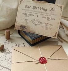 Sherlock Holmes english vintage invitation by Pensée invitation & stationery