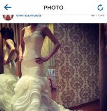 organza textured gown by elvira brides