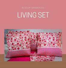 Living Set - Flower Strip Pink by Kostum Room Decorations