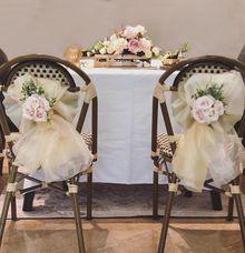Solemnisation Table Setup Basic Package Vintage Pink gold by Patson Decor