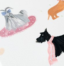Pets for wedding by Kelly's Wrapping Paper
