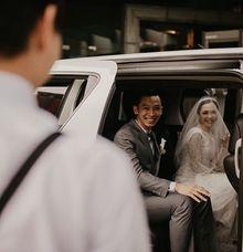 Randy & Merriska's Wedding by sapphire wedding car