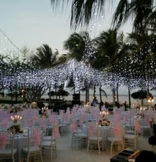 sunsed dinner by W Floral Design (wedding & event decoration) in Bali
