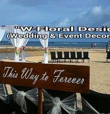 beach wedding ceremony by W Floral Design (wedding & event decoration) in Bali