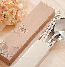 wheat stainless cutlery set by Red Ribbon Gift