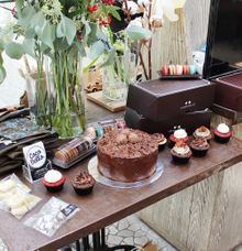 mini dessert table and goody bag for hello smithies photography workshop by Wishlist by Coco Bello