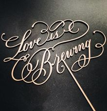 Cake Topper Calligraphy by Veronica Halim Calligraphy