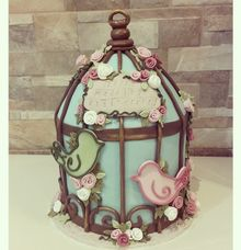 Anniversary Cake for Fira & Ichan by Rolling Pin Sugar Art