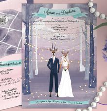 A Whimsical Antelope Wedding by The Cat Carousel