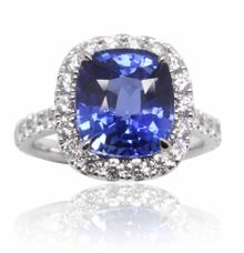 Blue Sapphire Engagement Ring by GIOIA FINE JEWELLERY