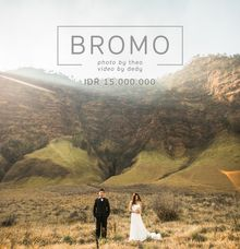 Don't miss our special pre-wedding package for BROMO! by Kinema Studios