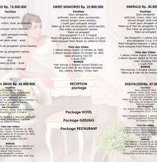 Pricelist Rubens Bridal by Rubens Wedding Planner