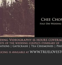 Half Day Feature of Chee Chong & Lena by True Love Stories