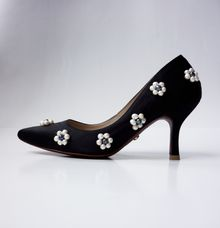 Genuine Pearls Embellished Shoes by Christin Wu
