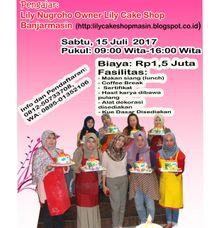 Pelatihan kursus kelas dekorasi icing fondant tingkat dasar by Lily Cake Shop Banjarmasin