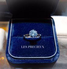SANTA MARIA AQUAMARINE ENGAGEMENT RING by LES PRECIEUX