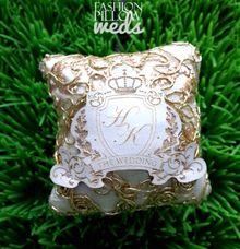 Hendrik & Karen Wedding Ring Pillow by Fashion Pillow Weds