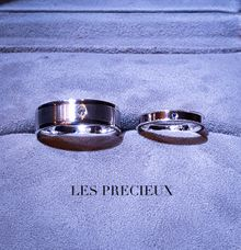 MATCHING SAPPHIRE AND DIAMOND WEDDING BANDS by LES PRECIEUX