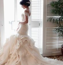 organza tekstured dress by elvira brides
