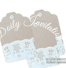 Tag by Doily Invitation