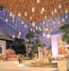 Wedding Dinner Reception by The Royal Santrian Luxury Beach Villa
