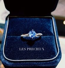 ICE BLUE SAPPHIRE ENGAGEMENT RING by LES PRECIEUX