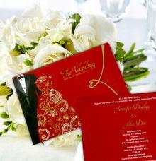 Elegant Red Wedding Card by Indah Baru
