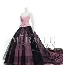 Miracle Gown Couture - The blush pink ball gown wrapped in black by Miracle Gown