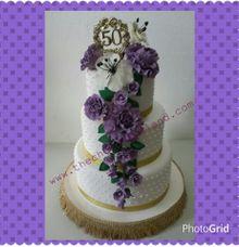 wedding anniversary 50th cake by The Chocolate Land