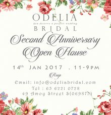 ODELIA BRIDAL 2nd Anniversary Open House Event 2017 by Odelia Bridal
