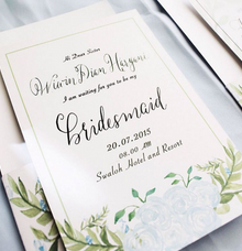 Bridesmaid cards by Meilifluous Calligraphy & Design