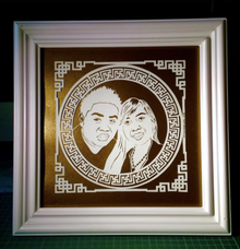 Portrait Wedding Gift by TELATEN