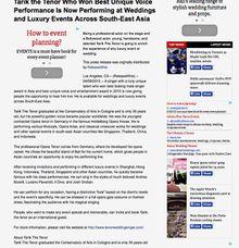 on Digital Journal by Tarik The Tenor ( The Luxury Entertainment )