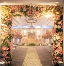 Peach Wedding Decoration by Four Points by Sheraton Bandung