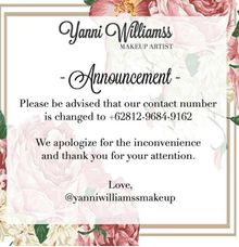 NEW Contact Number by Yanni Make Up Artist