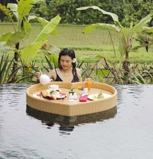 Floating Breakfast by Dwaraka the Royal Villas