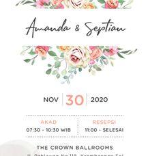 Undangan Grafis Amanda & Septian by Sanone Project Digital / Electronic Invitation