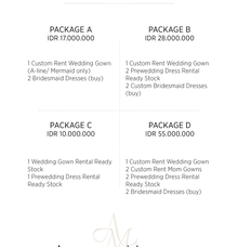 2018 Wedding Package by Angelina Monica