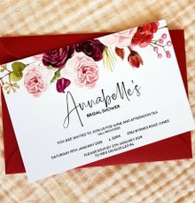 Pink & Burgundy Florals by Amanda Riley Creative