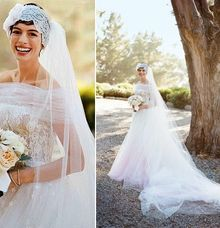 Anne Hathaway's Wedding by Face Forward Bridal