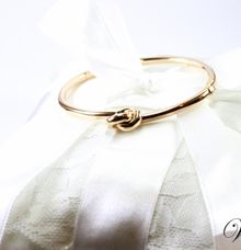 Knot Rose Gold Bangle by Wellman Jewelry