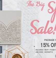 UPTO 25 percent Off on Online Wedding Invitations by IndianWeddingCards