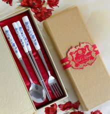Big Spoon Set for favor - Bob & Lanni by Red Ribbon Gift