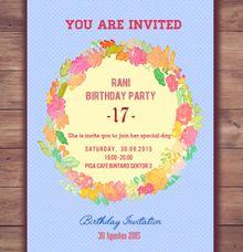 Footprints projects wedding invitations in jakarta bridestory birthday party invitation wreath blue by footprints projects stopboris Gallery